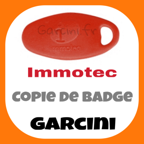 Badge Immotec rouge