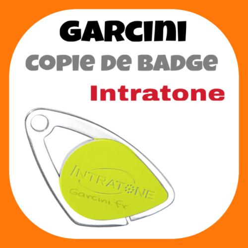 Badge intratone jaune
