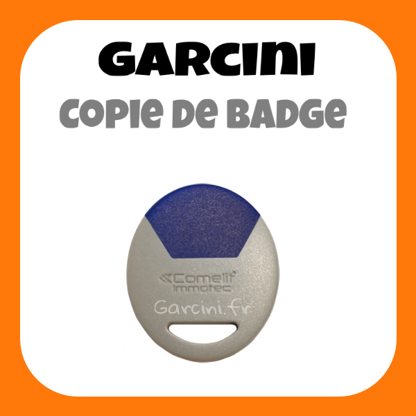 Badge Immotec Comelit bleu