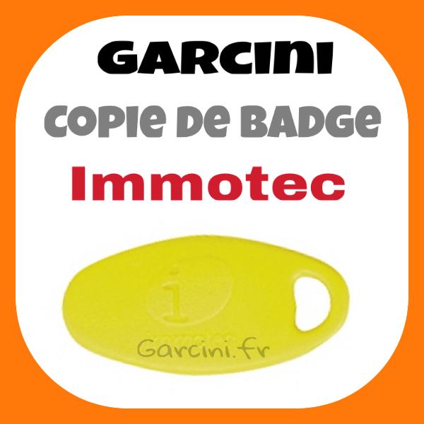 Badge Immotec jaune