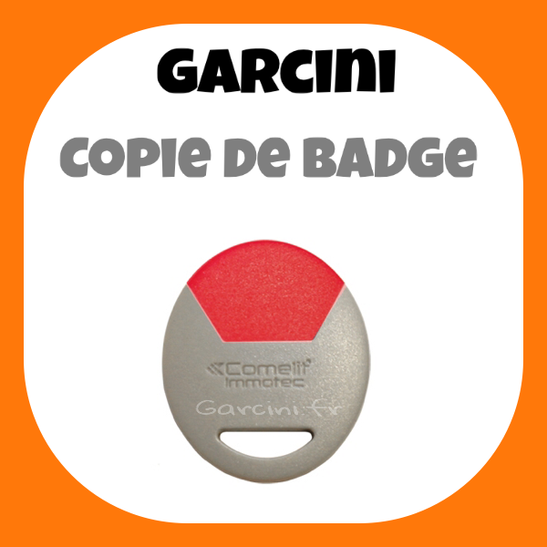 Badge Immotec Comelit rouge