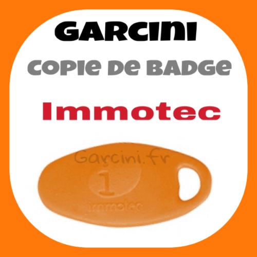 Badge Immotec orange
